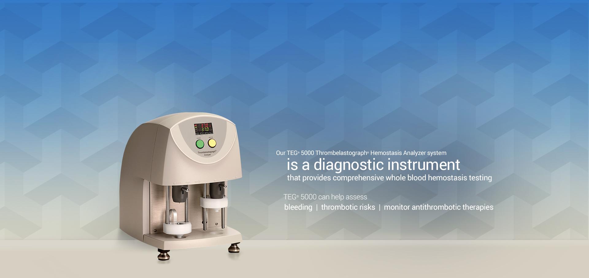 TEG 5000 Thrombelastograph Hemostasis Analyzer system